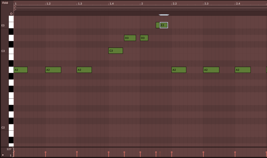 piano roll melody ableton live 10