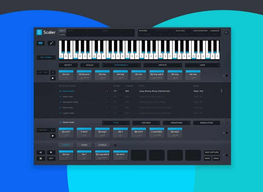 scaler 2 music theory helper and melody writing plugin