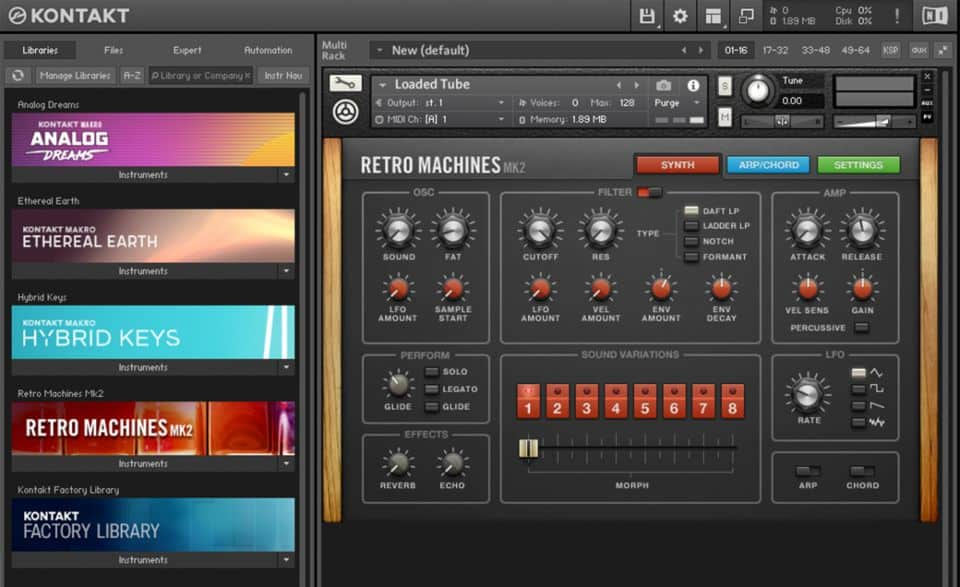 native instruments kontakt sampler virtual instrument