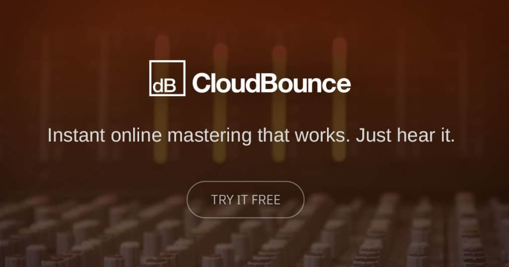 cloudbounce online instant mastering