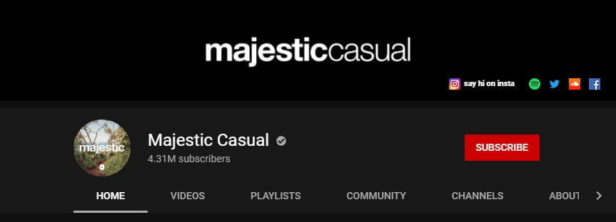 majestic casual youtube page