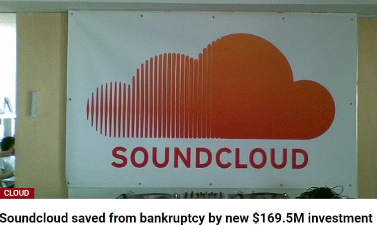 article about soundcloud going bust