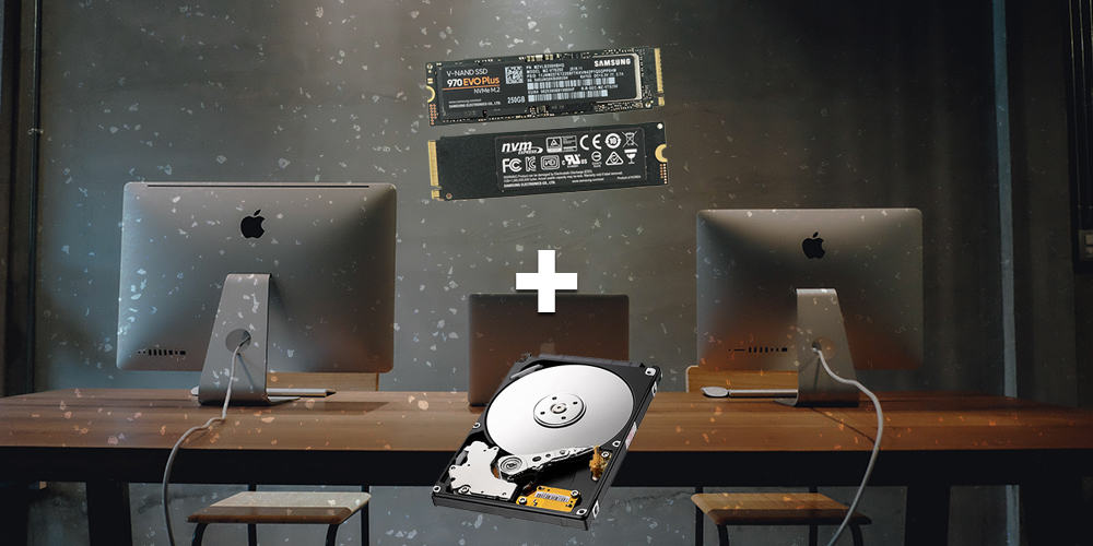 ssd and hdd music production computer setup
