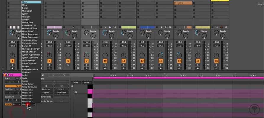 ableton live 11 piano roll keys and scales