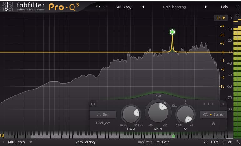 eq sweep to find resonant frequencies
