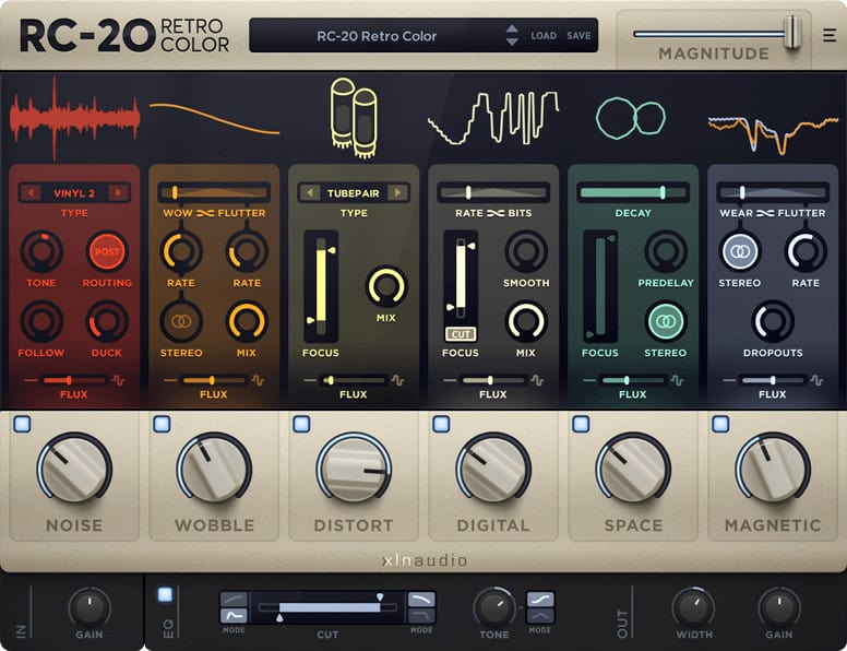 xln audio rc 20 vintage effects vst plugin