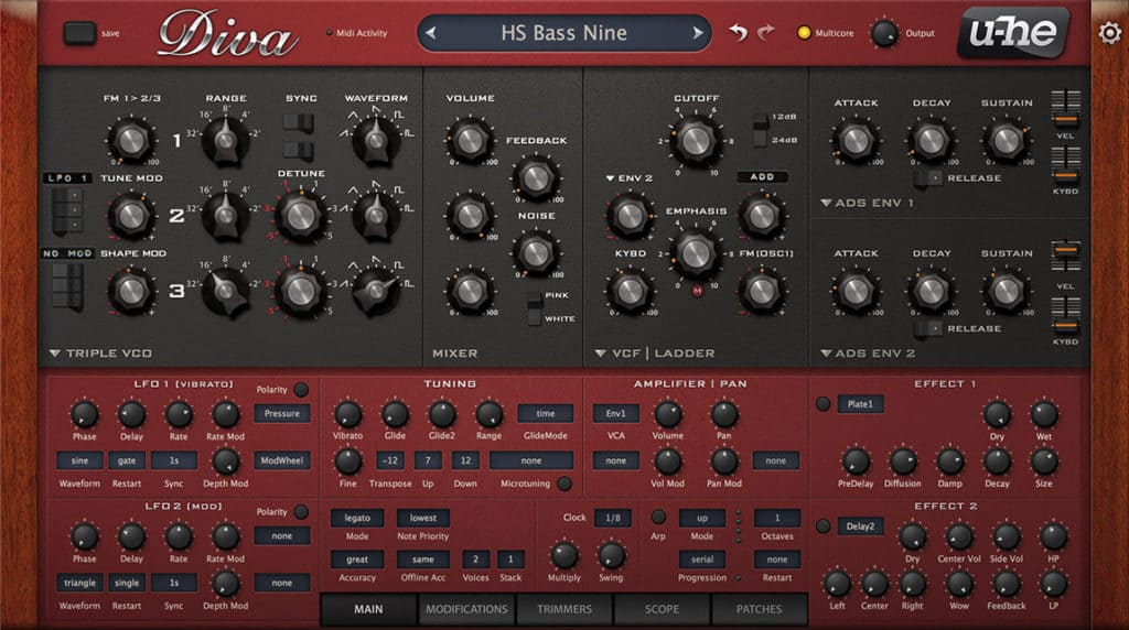 uhe diva virtual analogue synth vst plugin