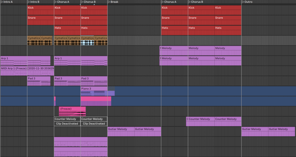 music production structure