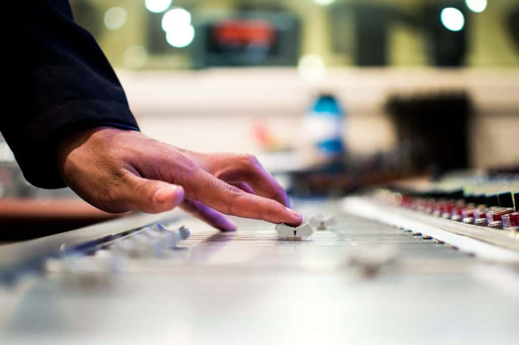 mixing desk music production