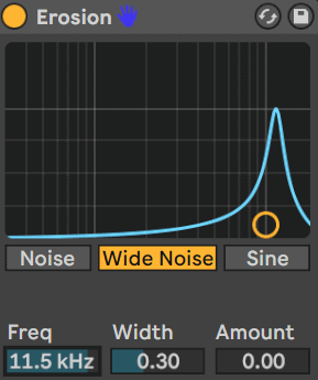 ableton erosion frequency