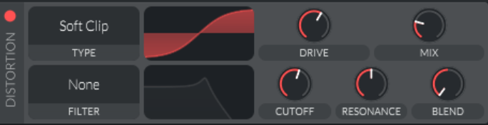 synthwave bass soft clip distortion
